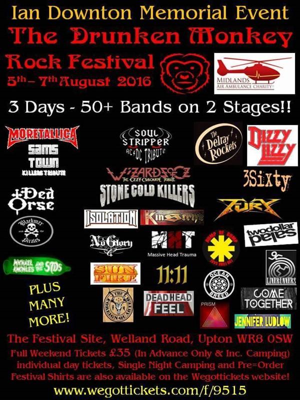 GIG POSTERS - UKTOUR - Drunken Monkey Rock Festival